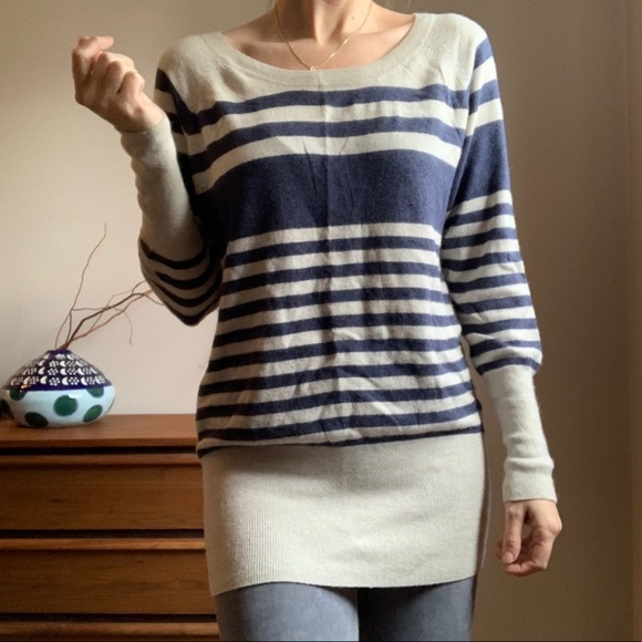 Aritzia Talula Cashmere Blend Striped Sweater Med